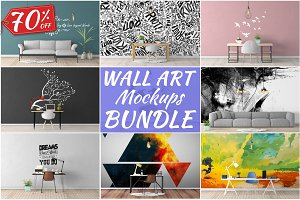 Wall Art Mockups BUNDLE V6