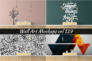 Wall Mockup - Sticker Mockup Vol 129
