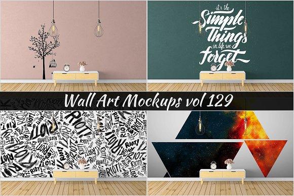 Wall Mockup Sticker Mockup Vol 129