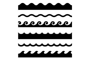 Seamless Wave Pattern Set