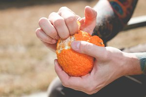 Peeling Orange