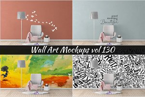 Wall Mockup - Sticker Mockup Vol 130