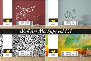 Wall Mockup - Sticker Mockup Vol 131
