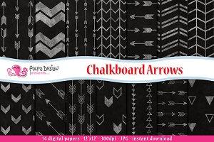 Chalkboard Arrows Digital Paper