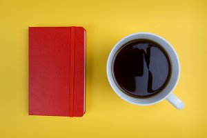 Coffee + Red Notebook