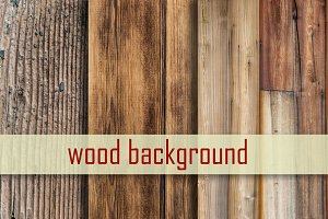 Wood background, set of 3 different
