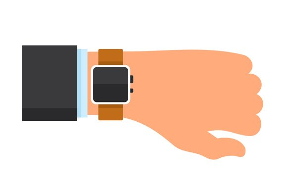 Arm With A Smartwatch