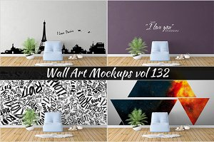 Wall Mockup - Sticker Mockup Vol 132