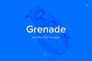 Grenade - Portfolio PSD Template