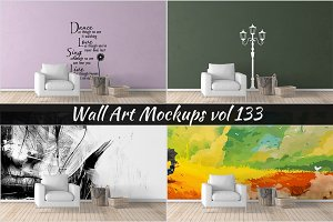 Wall Mockup - Sticker Mockup Vol 133