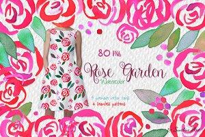 Rose Garden – Watercolor Clip Art