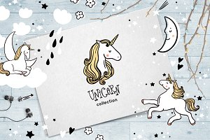 Cute unicorn collection
