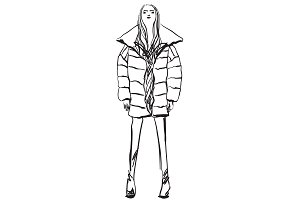Girl in the down jacket