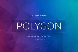 +25 Polygon Colorful Backgrounds v2