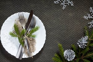 Festive table the Christmas