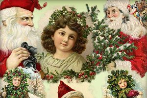Vintage Christmas Blendable Elements