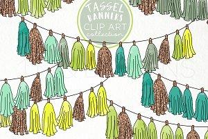Tassel Banner Clip Art