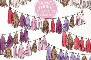 Tassel Banners Clip Art