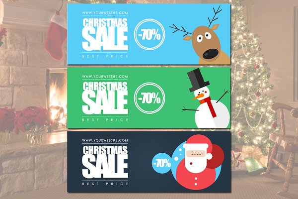 3 Christmas Facebook Cover Pack