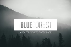 Photo Pack: Blue Forest Fog
