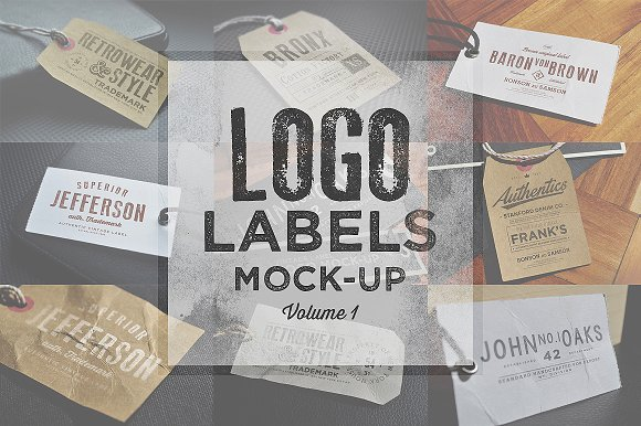 Download Logo Labels Mock-ups Vol 1 - free Download Mockup Generator