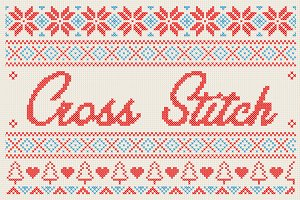Christmas Cross Stitch Effect