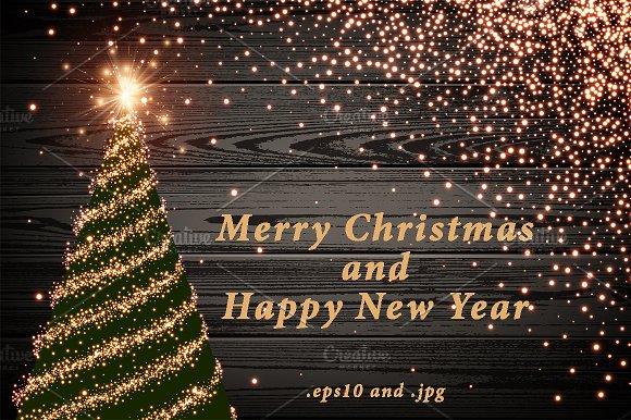 Merry Christmas Happy New Year Set