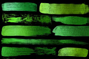 Green Paint Strokes Clipart
