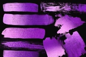 Purple Paint Strokes