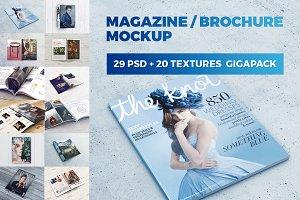 Magazine - Brochure MockUp GigaPack
