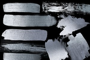 Silver Paint Strokes