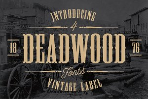 Deadwood Vintage Typeface w/Bonus