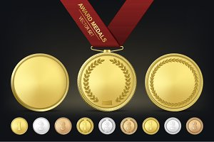 Award medals. Vector set.