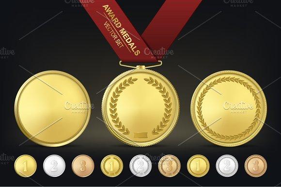Award medals. Vector set.  - Illustrations