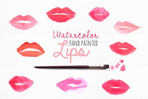 Watercolor Lips