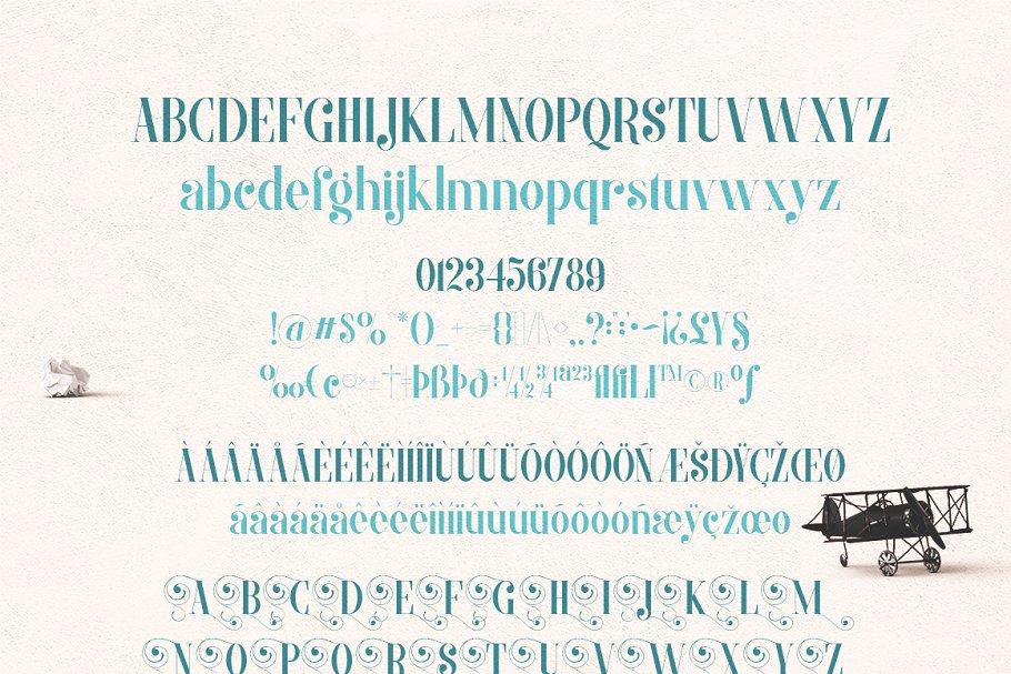 Best MORVA Typeface Vector