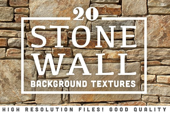 20 Stone Wall Background Textures