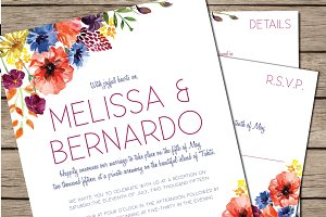 Wildflower Invitation Collection