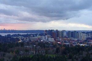 City Skyline Bellevue Washington