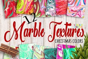 Christmas Marble Textures