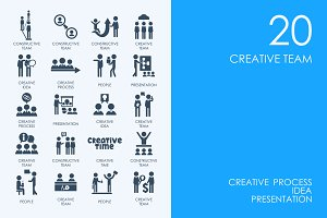 Creative team icons