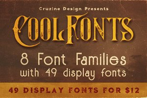49 Display Fonts for $8