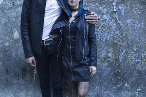 Couple in love grunge