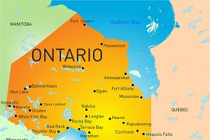 map of Ontario Province