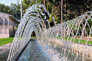 Fountain consisting of many streams