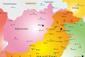 map of Pakistan country