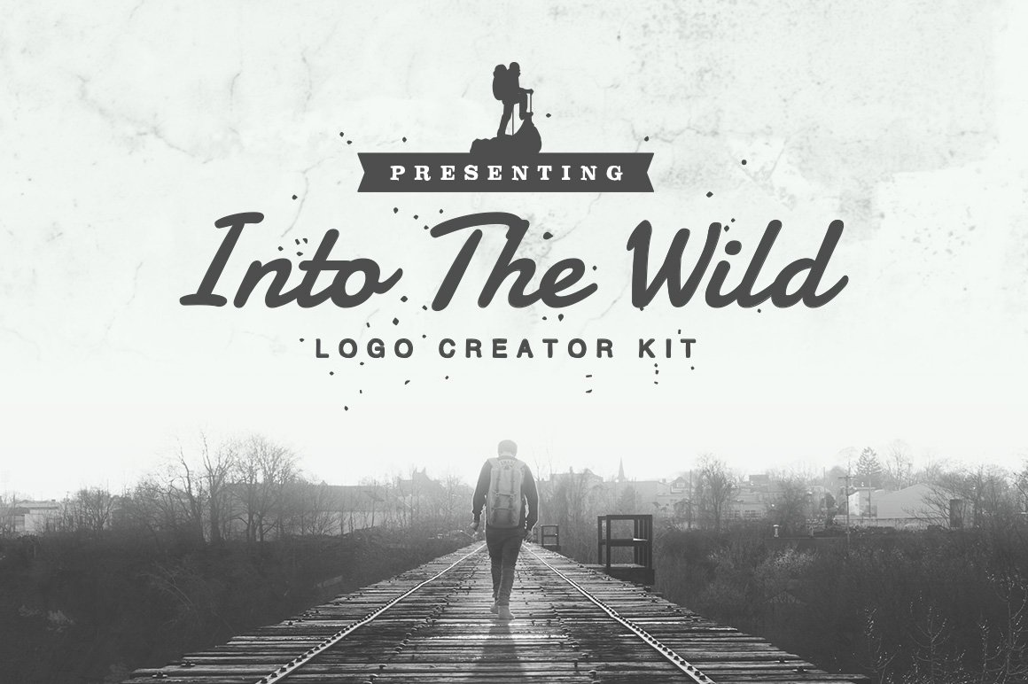 Into the wild logo creator kit templates