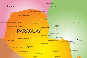 map of Paraguay country