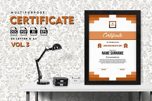 Best Multipurpose Certificate Vol 3