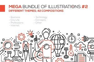42 Line Design Headers Bundle